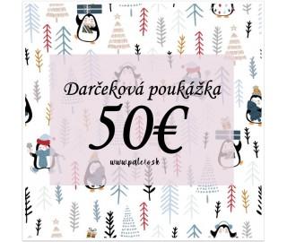 Darčeková poukážka -50€